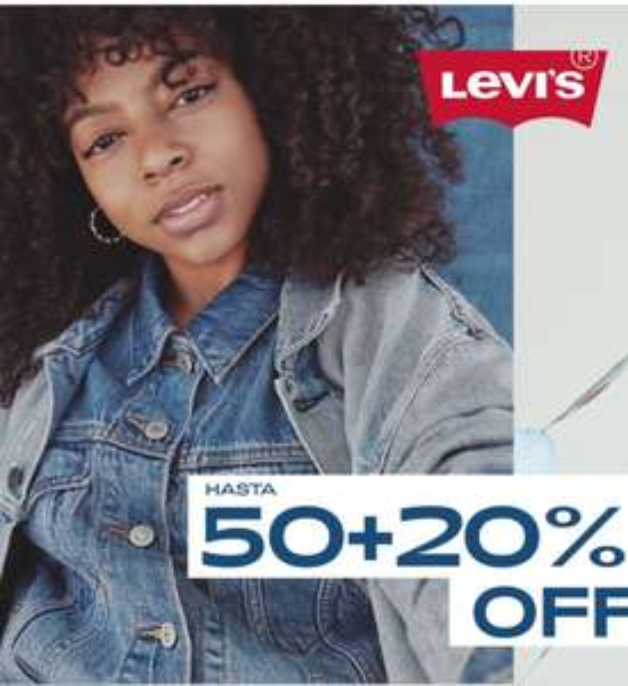 Levi's: Últimas Rebajas Hasta 50% + 20% Adicional