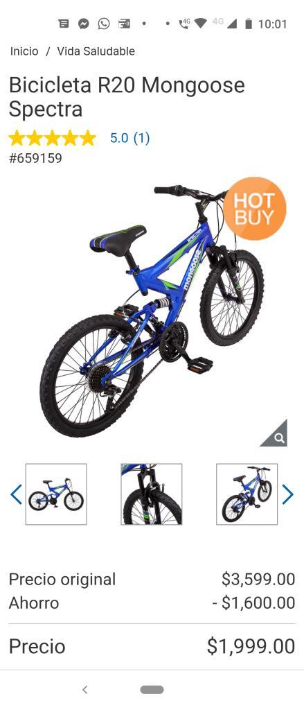 Costco Bicicleta R20 Mongoose Spectra
