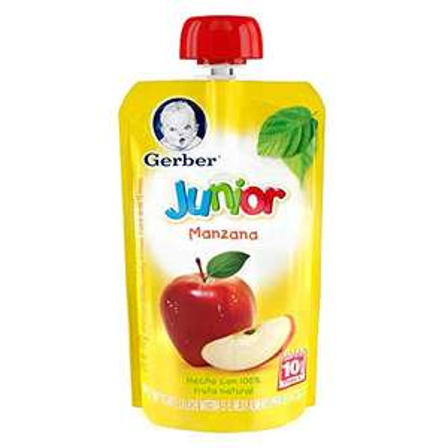 Amazon: Paquete de 12 Gerber bebe Junior Snack Manzana, Etapa 4