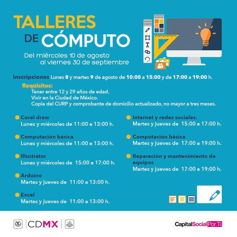 Injuve: Talleres de Cómputo gratuitos CDMX