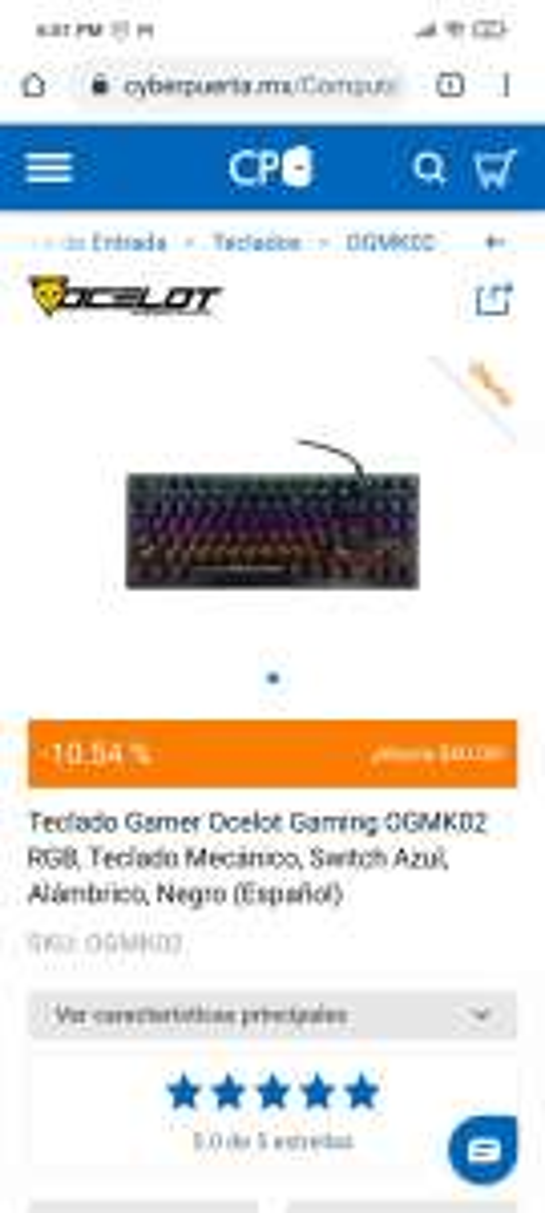 CyberPuerta: Teclado mecánico RGB