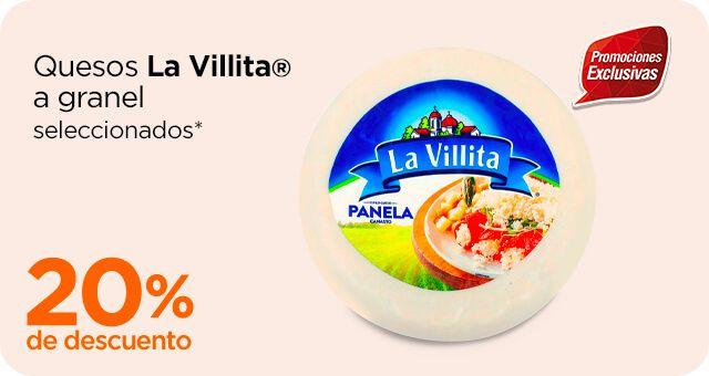Chedraui: 20% de descuento en quesos La Villita a granel seleccionados
