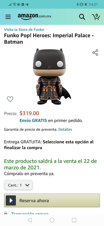 Amazon: Preventa - Funko pop: Heroes: Imperial Palace