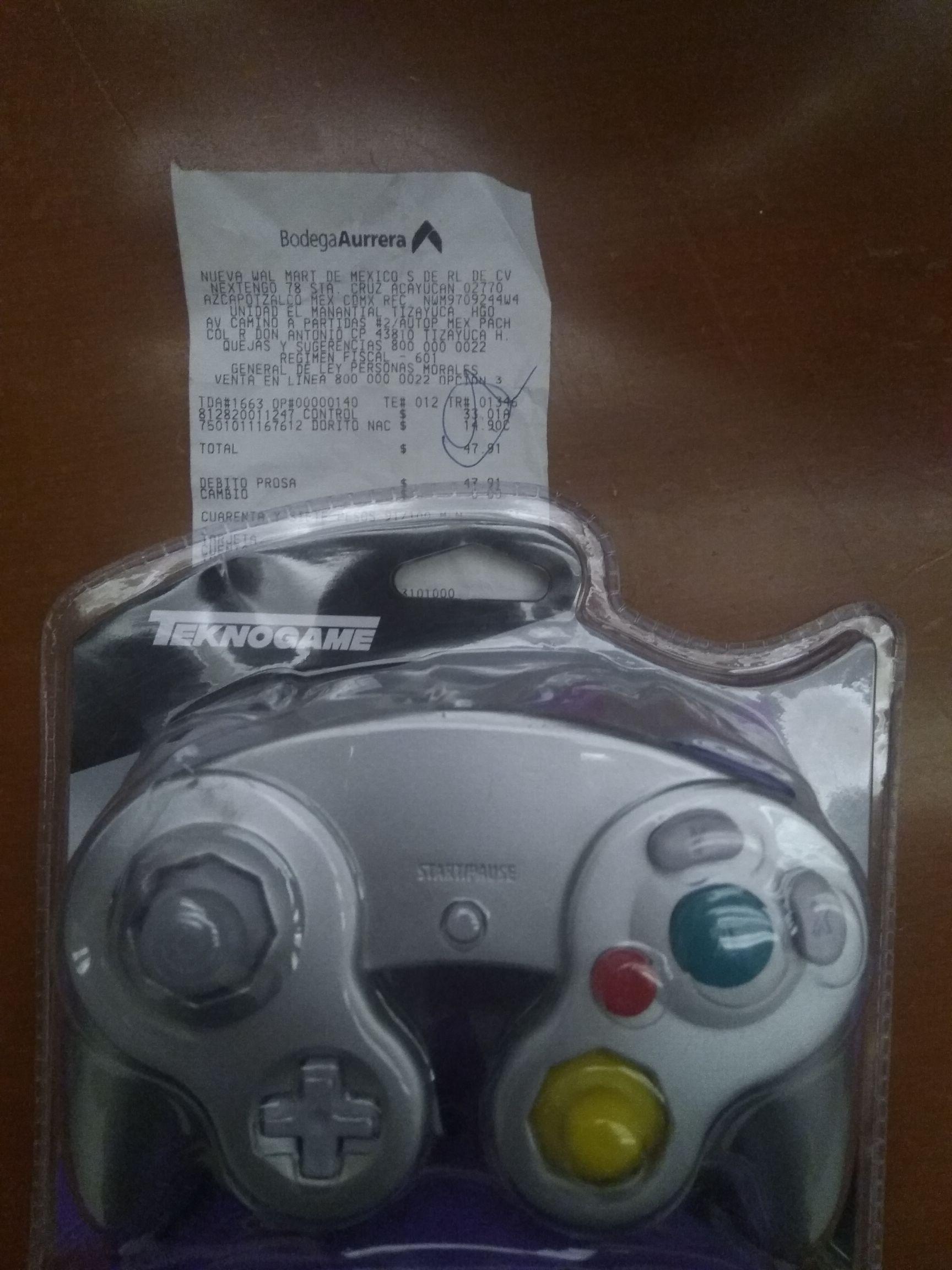 Bodega Aurrera Tizayuca: Control teknogame para Wii y gamecube