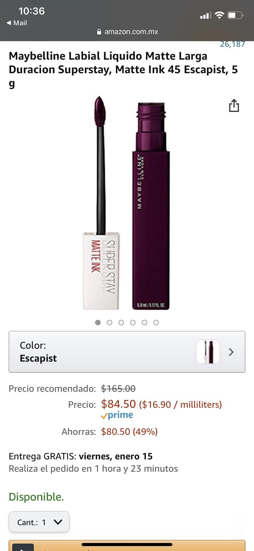 Amazon: Maybelline Matte Ink 45