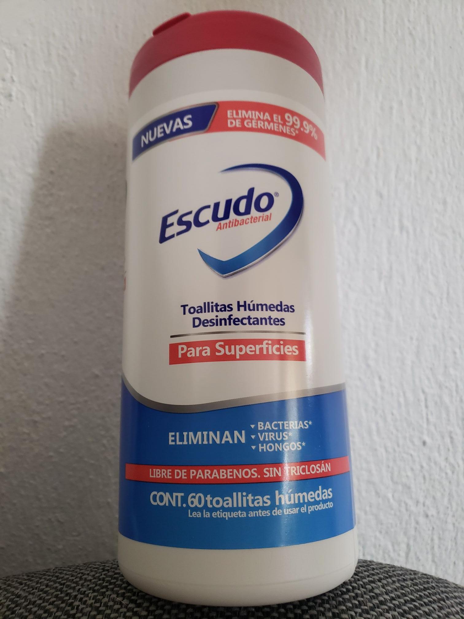 Farmacias Guadalajara 60 toallitas húmedas Escudo Antibacterial