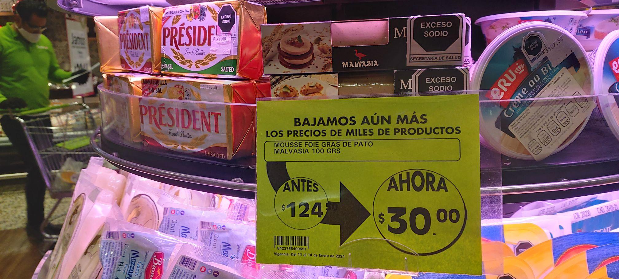 Mousse de foie gras de pato a precio de saldo en La Comer