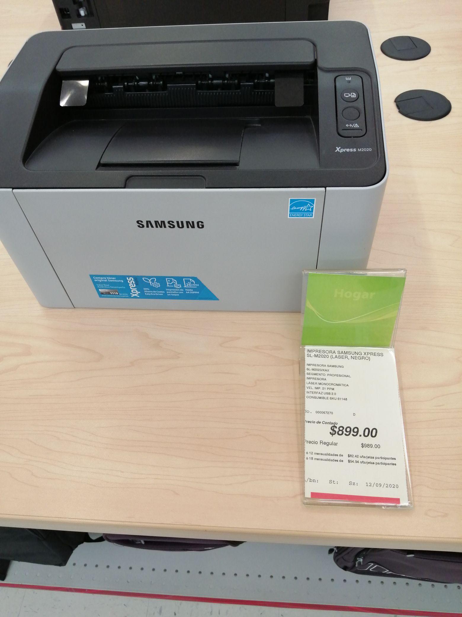 Impresora Samsung Láser SL-M2020 Office Depot
