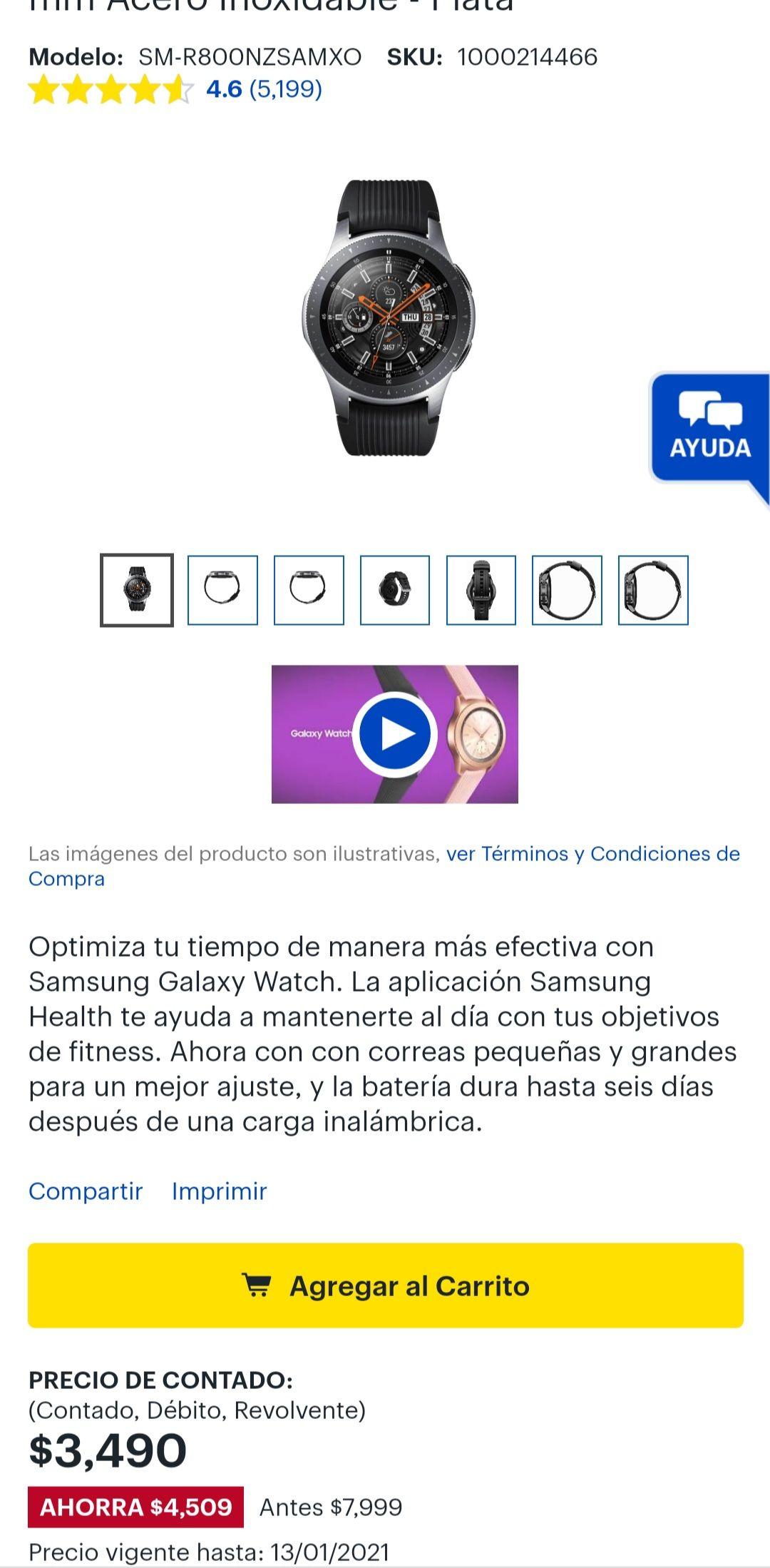 Best Buy: Galaxy Watch 46 mm