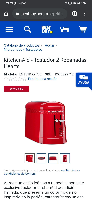 Best Buy: Tostador KitchenAid Pequeño