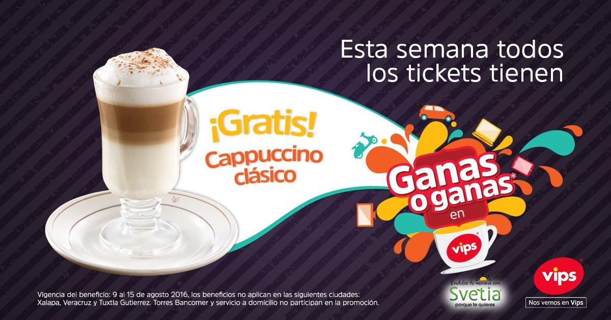 Vips: Cappuccino clásico gratis en tu próxima visita