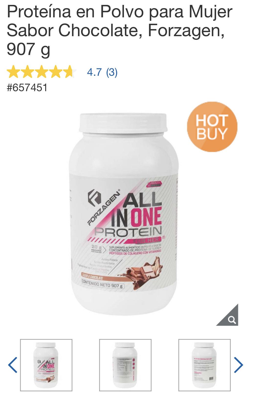 Costco: proteína en Amazon está en $999