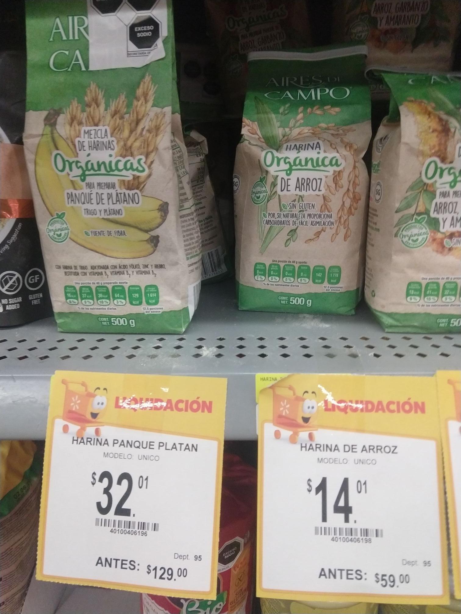 Walmart Aguascalientes: Harinas orgánicas
