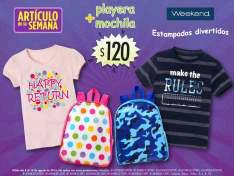 Suburbia: Artículo de la semana playera Weekend más mochila por  $120
