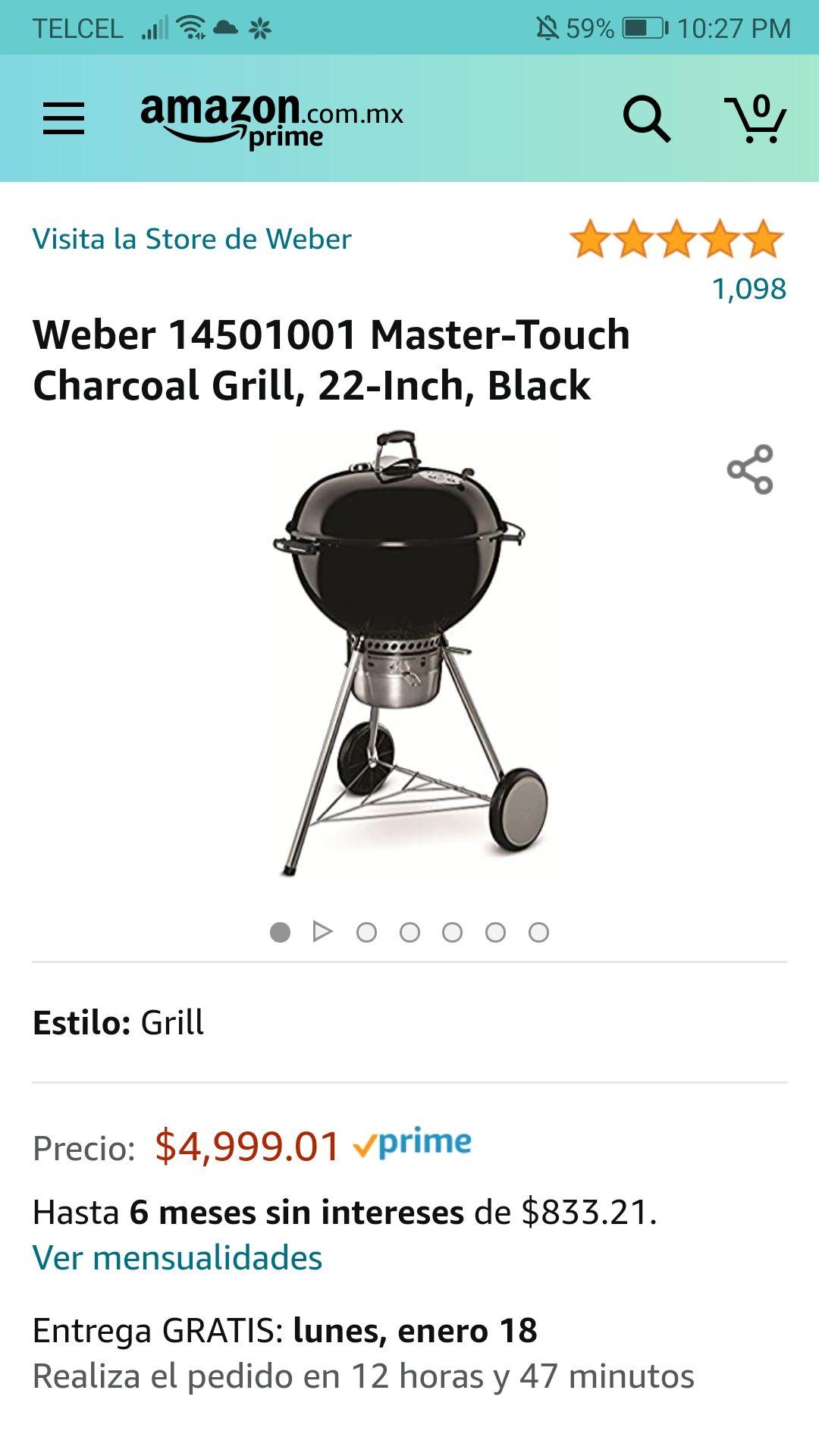 Amazon: Weber Master Touch