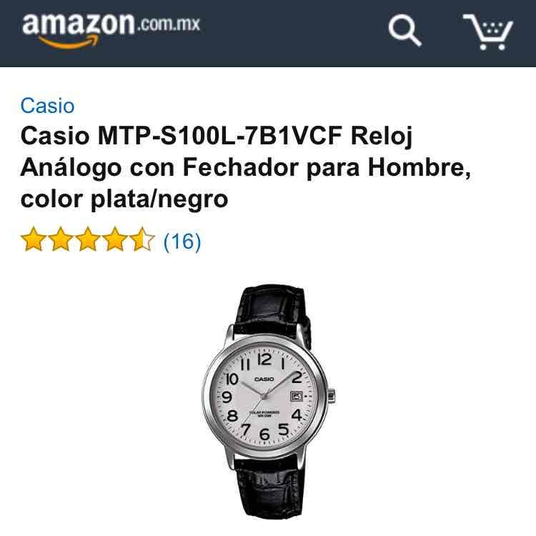 Amazon: reloj Casio correa piel modelo MTP-S100L-7B1VCF