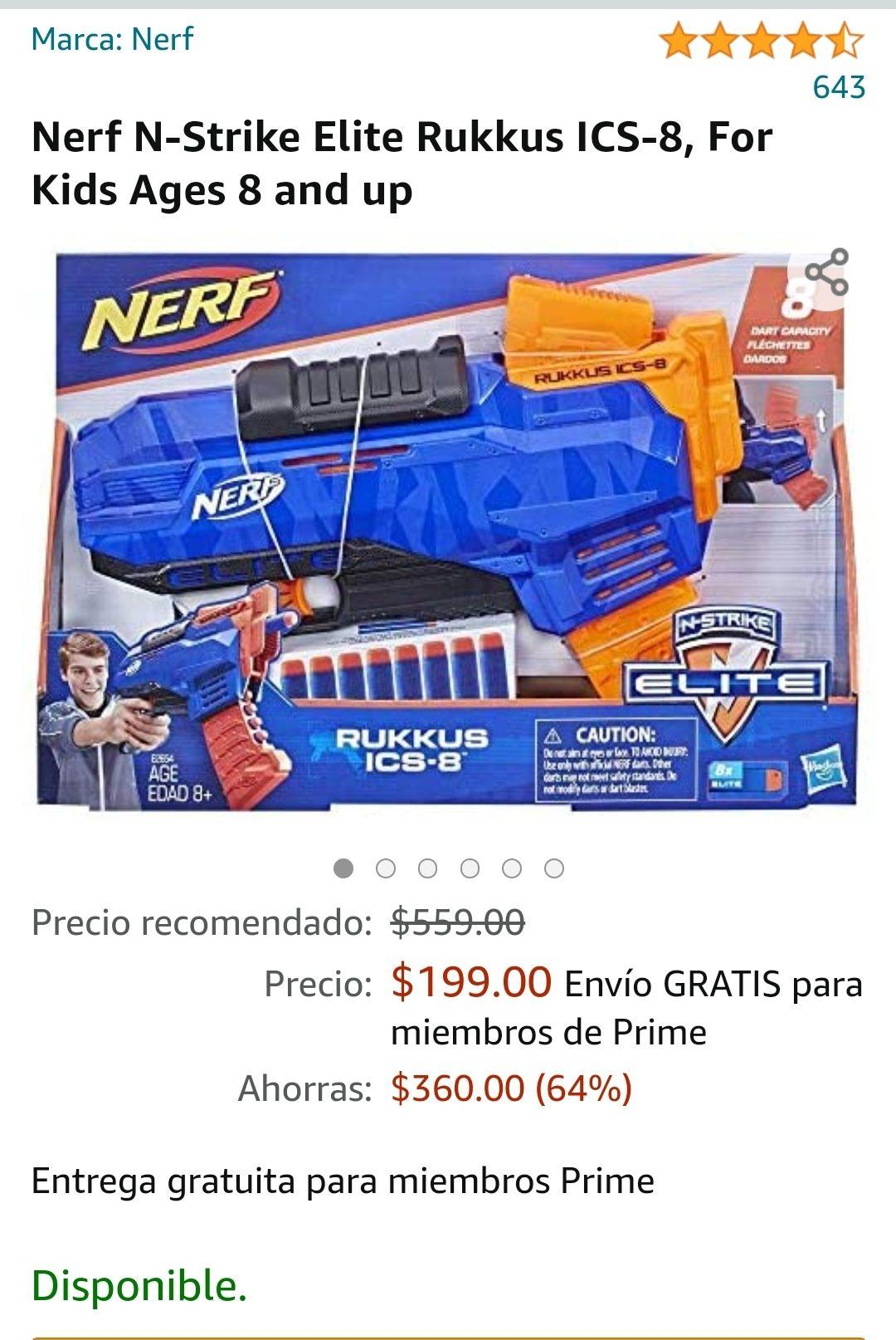 Amazon: Nerf N strike elie rikkus ics 8