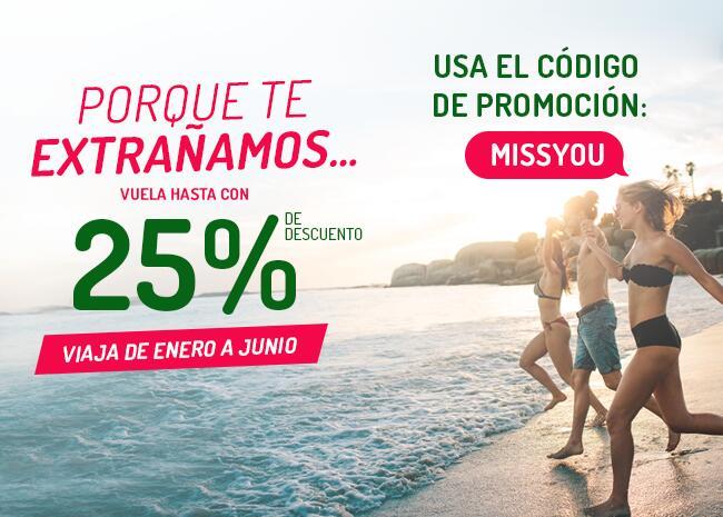 Vivaaerobus: 25% de Descuento en vuelos Enero - Junio