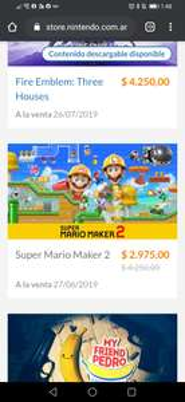 Nintendo: Mario Maker 2 para Switch eshop Argentina