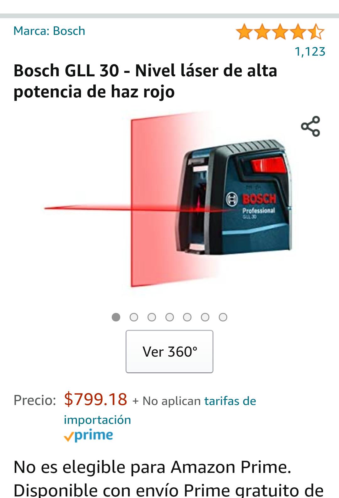 Amazon Nivel laser Bosch
