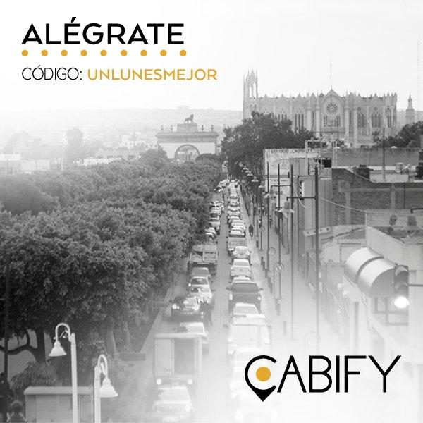 Cabify: 2 viajes con 20% de descuento(Nuevos/existentes usuarios|Solo valido en León)