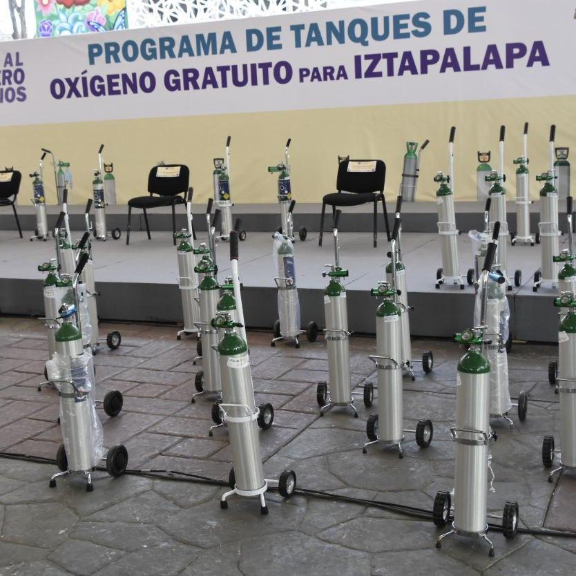 Programa de Tanques de Oxigeno Gratuitos en Iztapalapa, CDMX