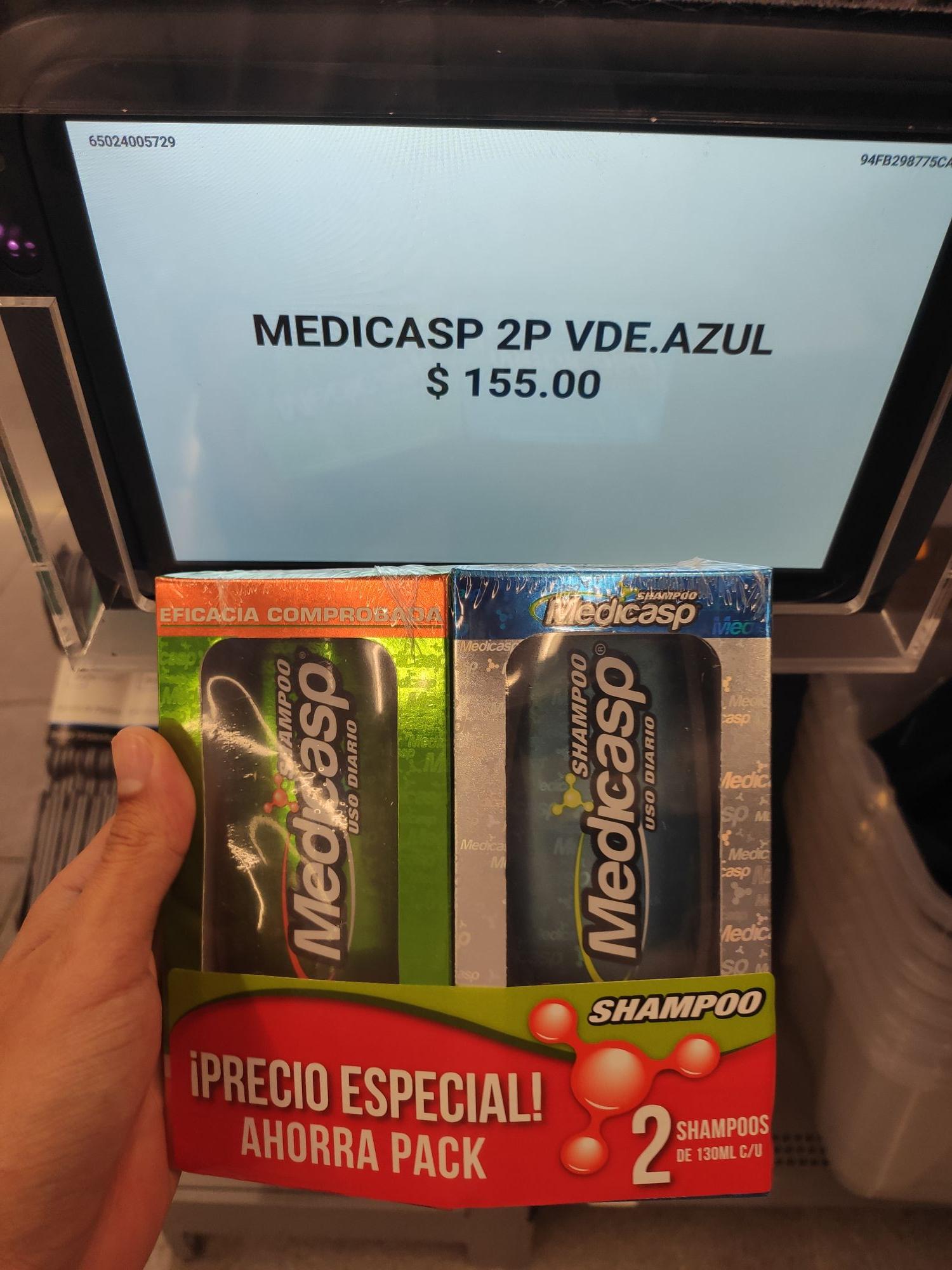 Walmart Mérida: 2 shampoo medicasp x 155