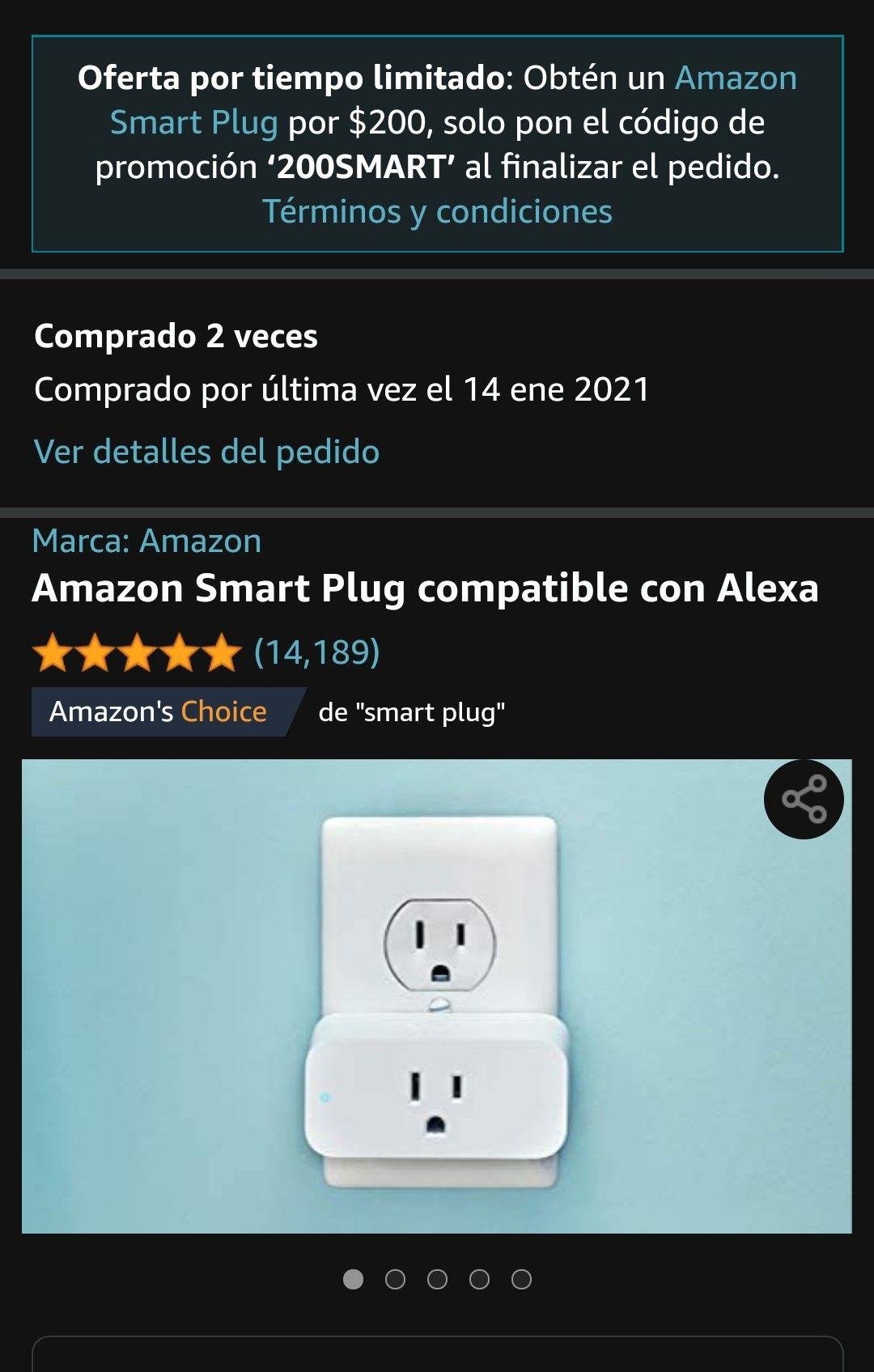 Amazon: 2 Smart Plug por 300 con Prime