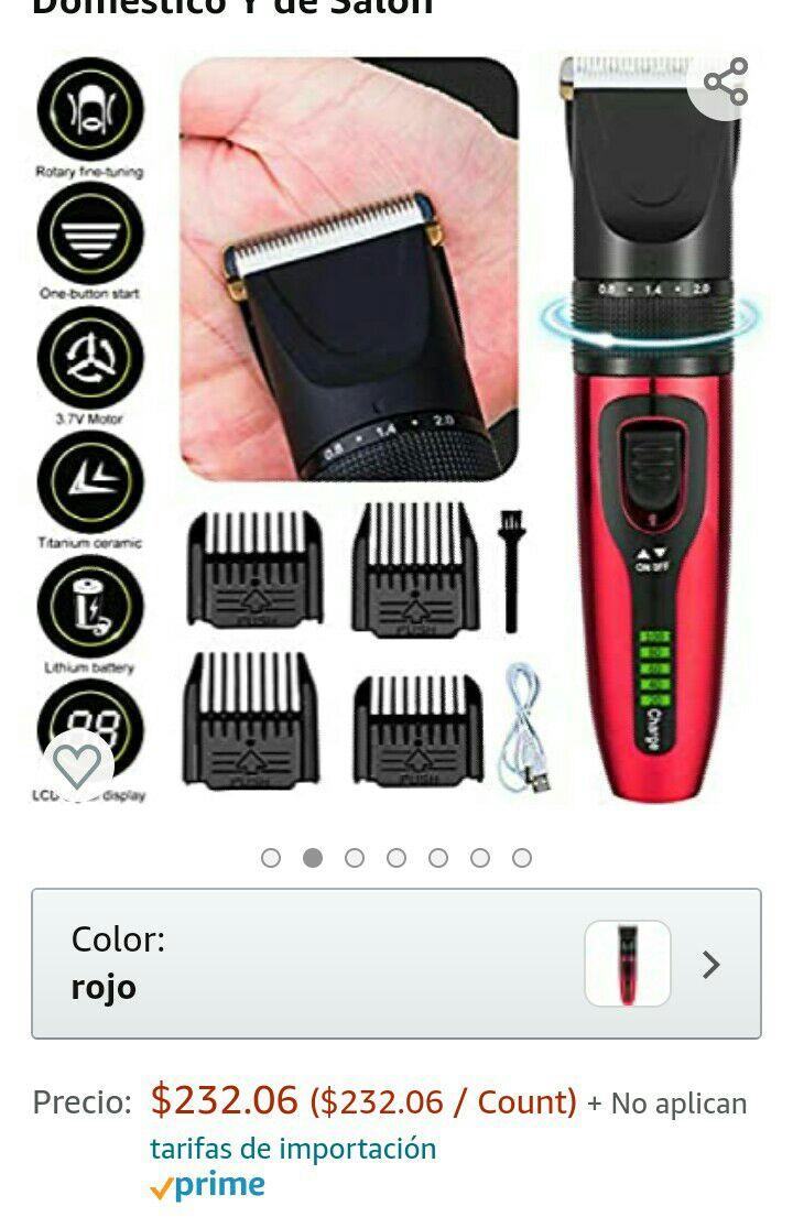 Amazon: Cortadora de cabello barba y bigote inalámbrica.