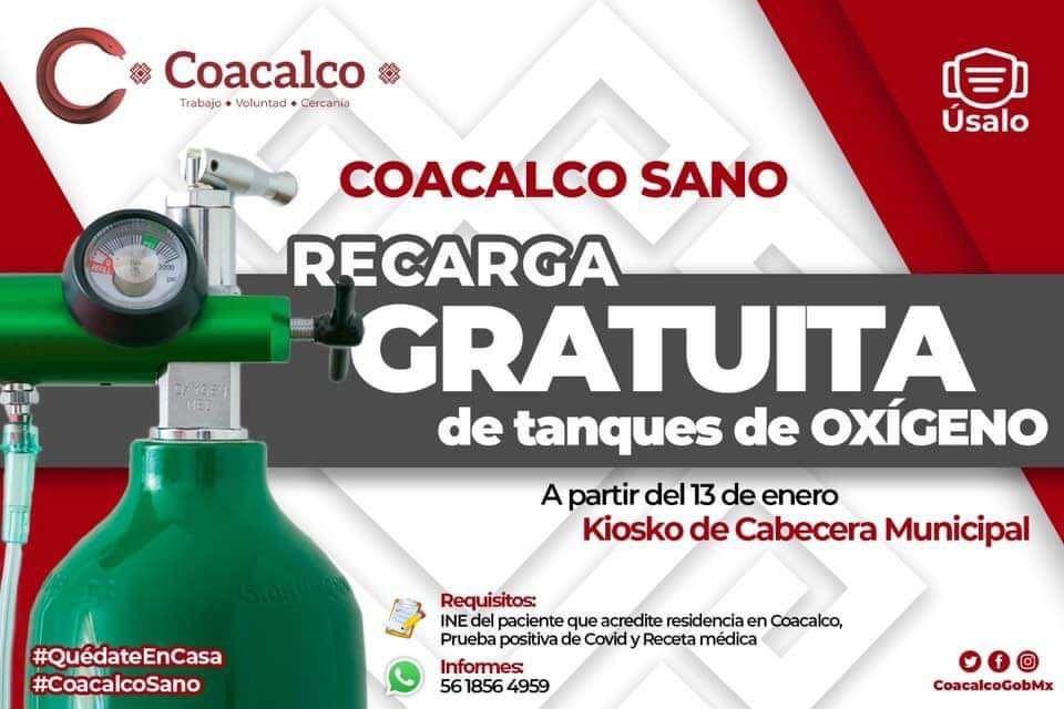 Oxigeno gratis en Coacalco