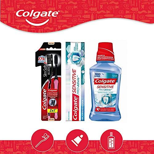 Amazon: Colgate Pack Colgate Sensitive Pro Alivio Pasta Blanq 75ml + Cepillo Slim Soft Black 2pzs + Enjuague 250ml