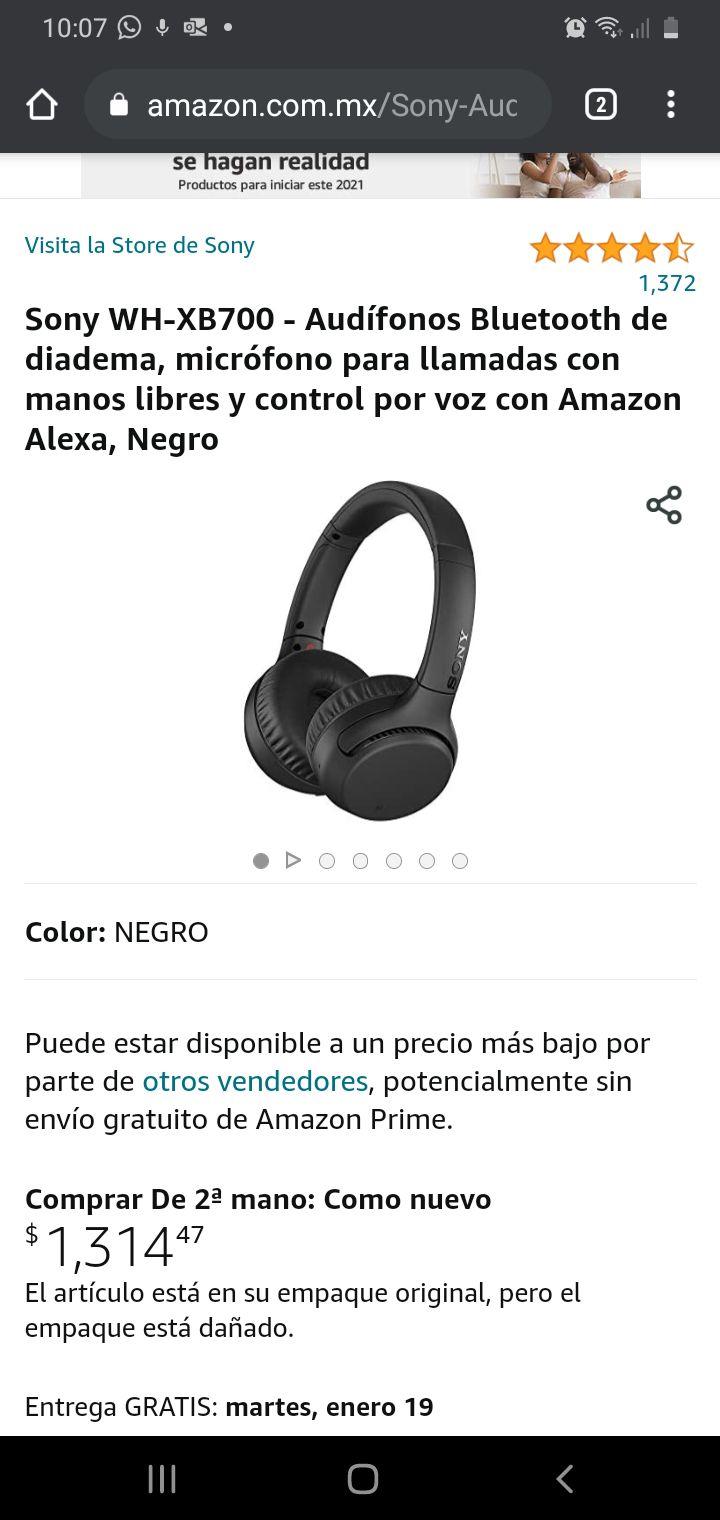 Amazon: Sony WH-XB700 - Audífonos Bluetooth