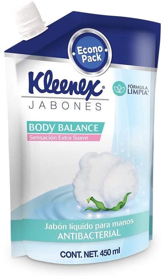 Amazon: Kleenex Jabón Líquido Antibacterial Para Manos , Refill De 450 Ml (VARIOS AROMAS)