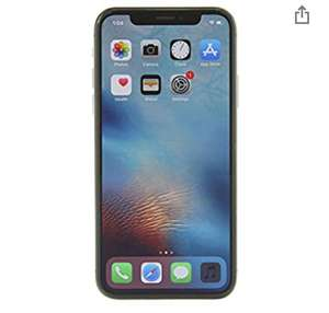 Amazon - Apple iPhone X, 64GB, Space Gray - (Renewed)
