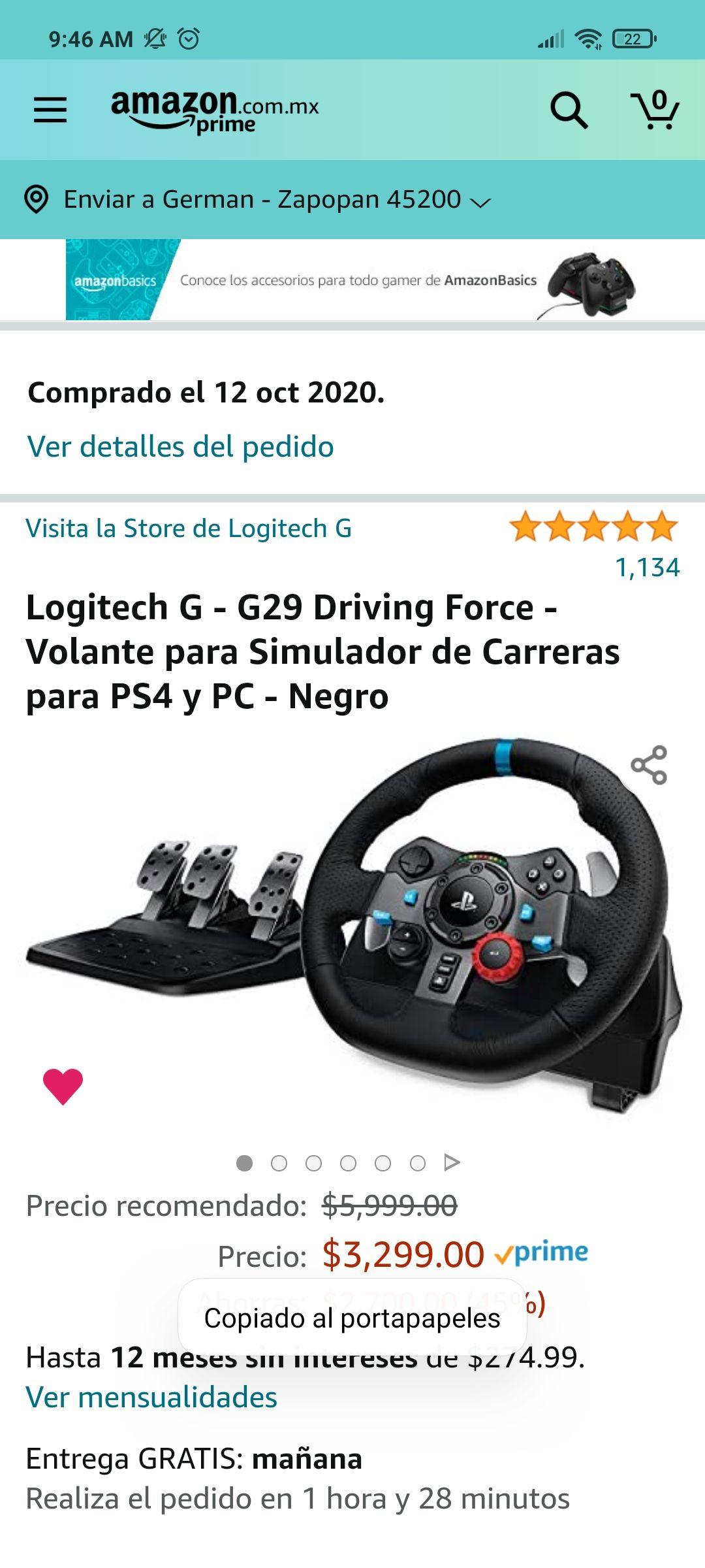 Amazon, Volante Logitech g29