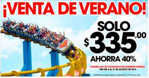 Six Flags: 40% de descuento comprando en línea del 8 al 21 de agosto 2016