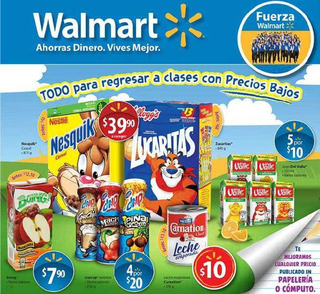 Folleto Walmart agosto 16: ofertas en laptops, fórmula infantil, cereal y más