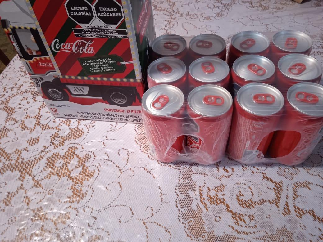 Walmart Taxqueña: 12 latas Coca-Cola de 235 ml