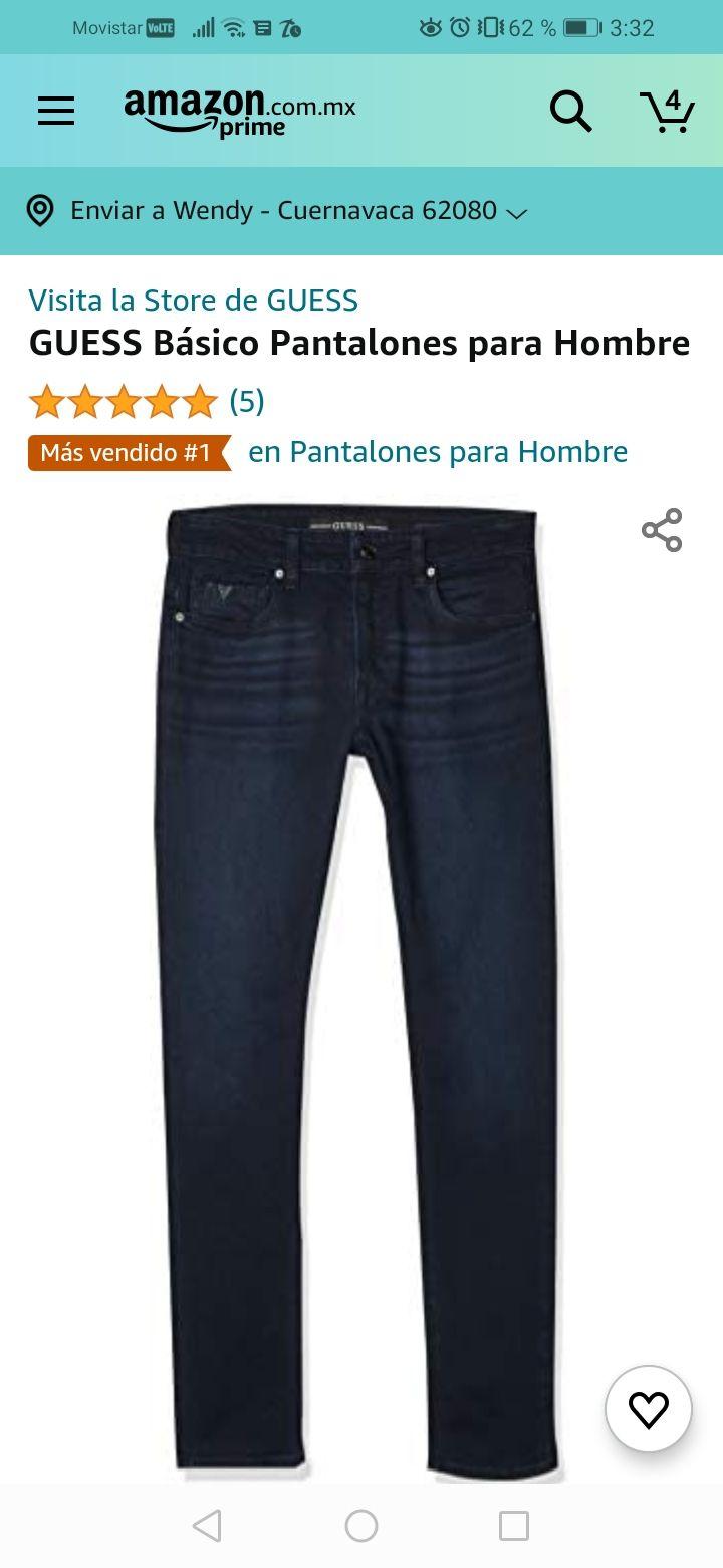 Amazon: Varios pantalones para Hombre marca Guess