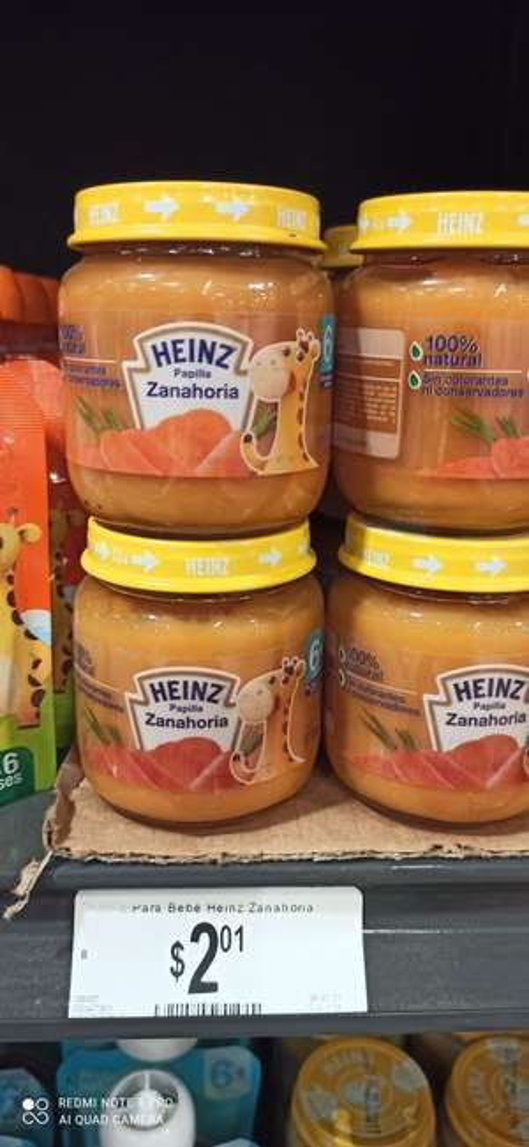 Chedraui: Papilla de zanahoria marca Heinz
