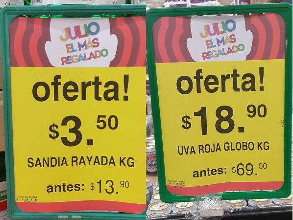 Soriana Híper y Súper: Martes 9 Agosto: Sandía Rayada $3.50 kg. y Uva Roja Globo $18.90 kg.