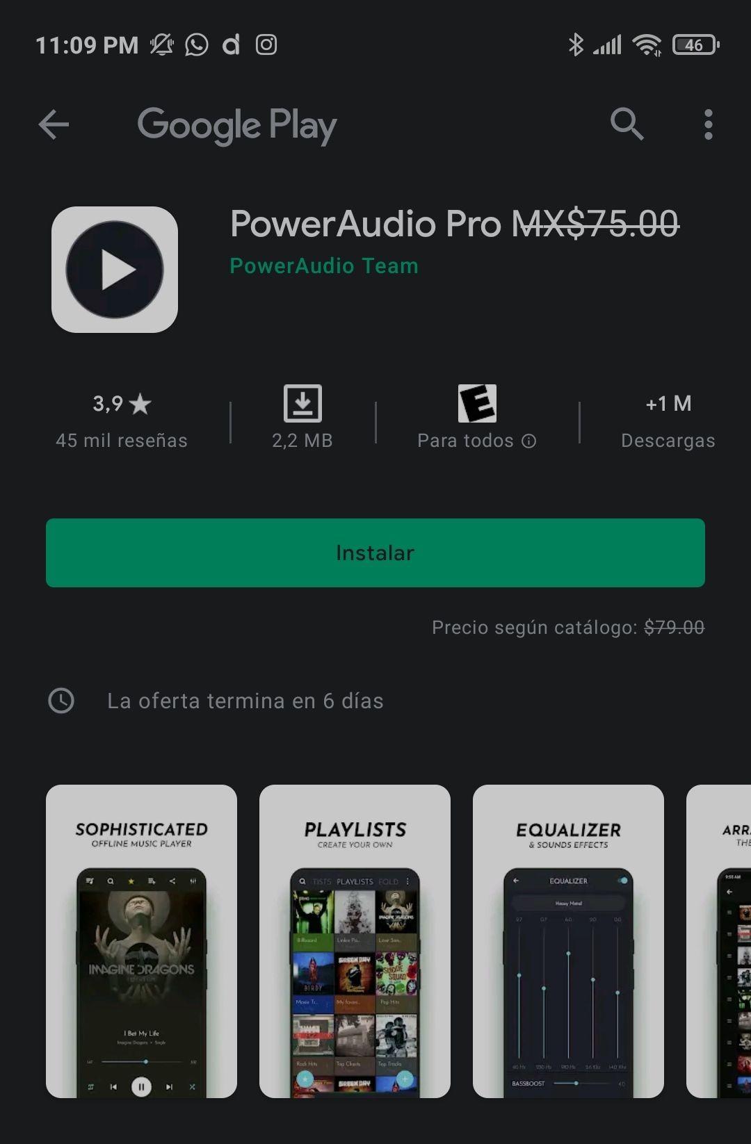 Google Play: Power audio pro