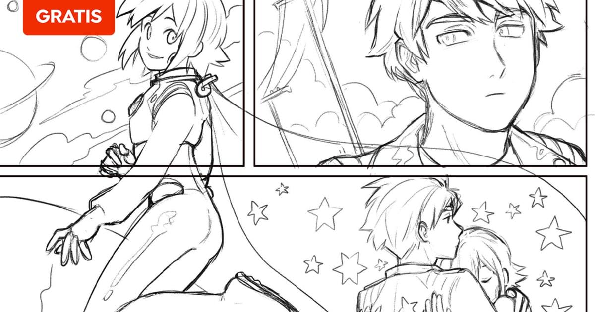 Domestika | Descarga gratis una base de referencias anatómicas para ilustraciones manga