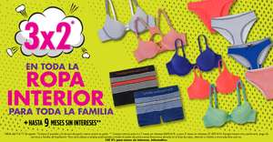 Suburbia: Regresa la promoción de 3x2 en ropa interior