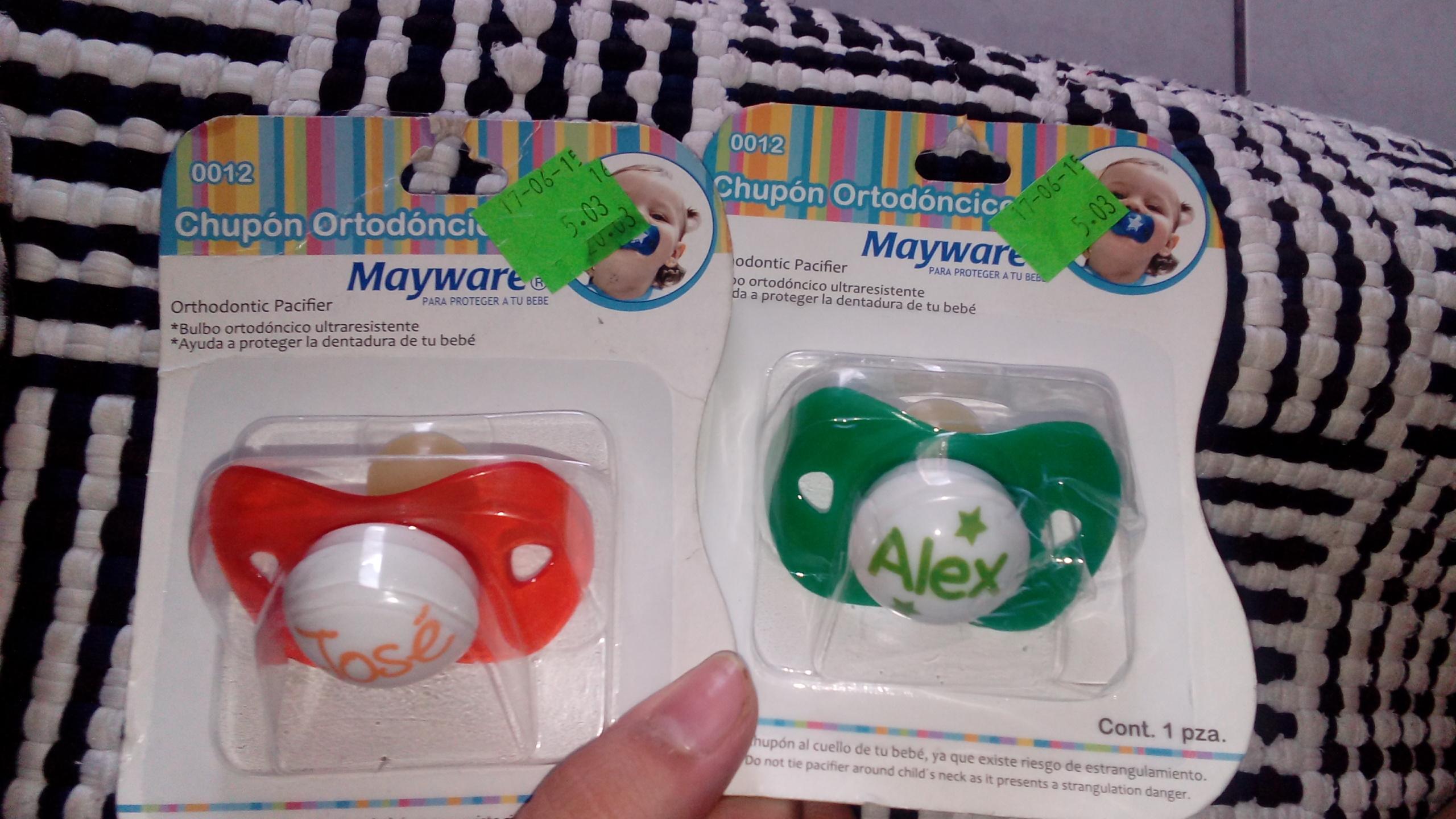 Walmart: chupón para bebé marca Mayware a $5.03