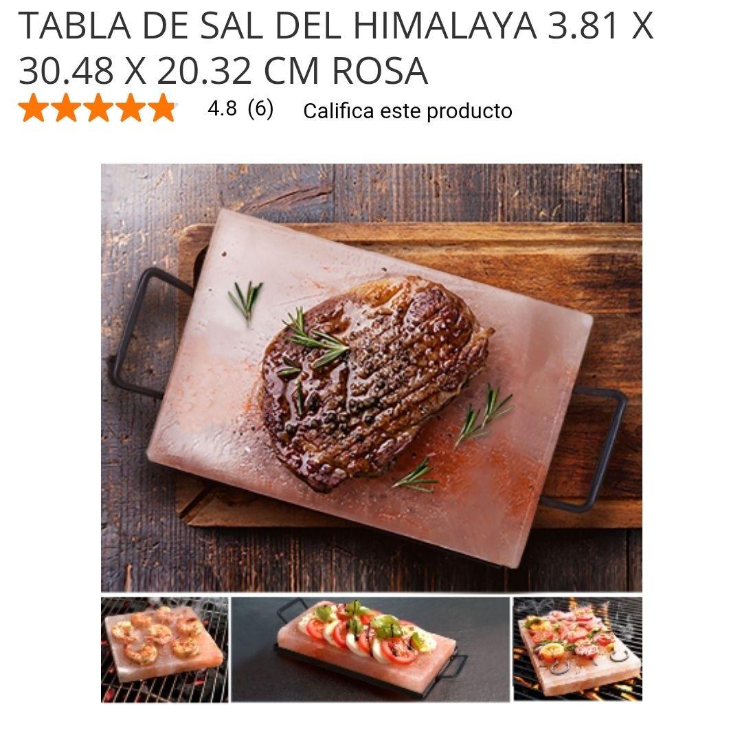 Home Depot: TABLA DE SAL DEL HIMALAYA 3.81 X 30.48 X 20.32 CM ROSA