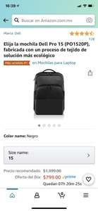 Amazon: Mochila Dell 15""