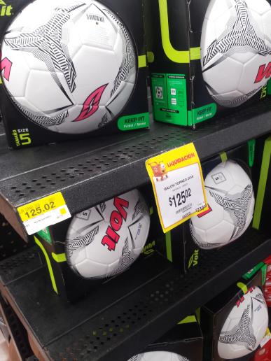 Walmart: balón Voit oficial liga MX a $125.02