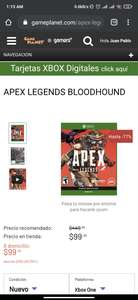 Game Planet: Apex blodhound + mil monedas xbox one