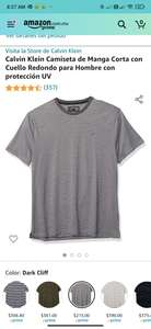 Amazon: Playera Calvin Klein Talla G y XL